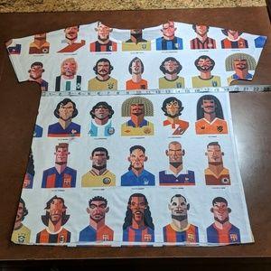 Soccer tee shirt legends